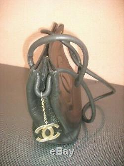 Authentiques Chanel Sac à Main Noir Vintage