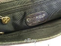 Beau SAC BAG CHANEL Vintage Cuir noir Produit authentique
