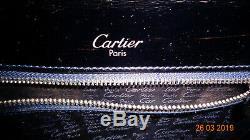 Beau Sac En Cuir Noir Vintage Cartier