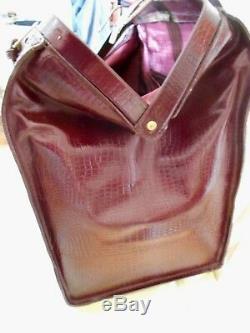 Bigger bag grand sac docteur cuir bag leather vintage with key