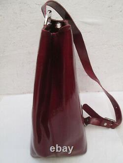 -CARTIER sac à dos monobretelle cuir vernis (T)BEG vintage