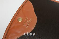 CELINE Sac Pochette Vintage Pour Elizabeth Arder Toile Beige Chaînette Dorée BE