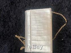CHANEL sac cuir bronze vintage crossbody kilted gold LEATHER chain bag borse TBE