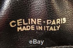 Céline PARIS Beau Sac Pochette Vintage en cuir BORDEAUX