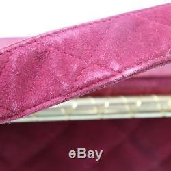 Chanel Matelasse Matelassé Sac Bandoulière Rouge Daim Vintage Italie Authentique