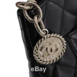 Chanel Matelasse Sac à Main Black Caviar Peau Cuir Vintage Italie Authentiques
