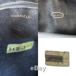 Chanel Matelasse Sac à Main Marine Cuir D'Agneau Italie Vintage Authentique