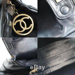 Chanel Matelasse Sac à Main Marine Cuir D'Agneau Italie Vintage Authentique Z323
