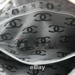 Chanel Matelassé Sauvage Couture Main Sac Cuir Noir Vintage Italie Authentique #
