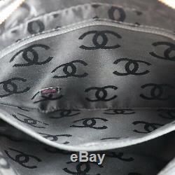 Chanel Matelassé Sauvage Couture Sac à Main Cuir Noir Vintage Italie Authentique