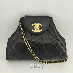 Chanel, Sac Vintage en cuir noi