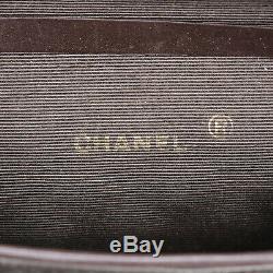 Chanel cc Logo Chaîne Épaule Sac Brun Toile France Vintage Authentique #Z805 W