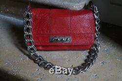 Chloé Sac à main en cuir rouge Vintage