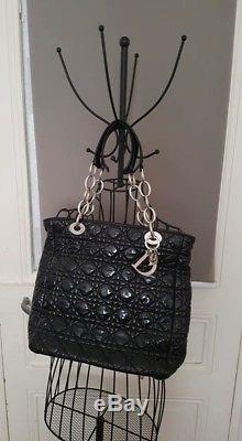 Christian DIOR sac à main ou épaule vintage noir luxe authentique PARFAIT
