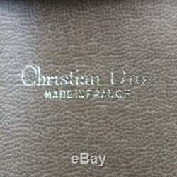 Christian Dior Miel Combo Sac à Bandoulière Beige PVC Vintage Authentique #Z424