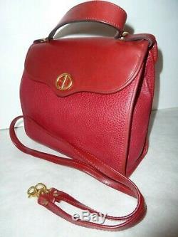 Christian Dior sac vintage cuir véritable rouge