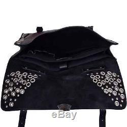 Dolce & Gabbana Cuir Messenger Sac à Bandoulière Sac à Dos Vintage Noir 06430