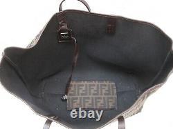 FENDI + sa pochette amovible sac à main authentique vintage toile et cuir bag