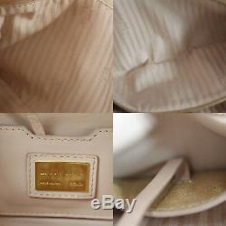 Fendi Logo Baguette Sac à Main Cuir Rose Italie Vintage Authentique #M855 A