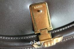 GUCCI Sac à main cuir marron vintage (49855)