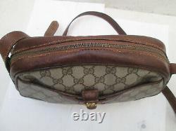 -GUCCI sac à main cuir TBEG vintage bag authentique 60's