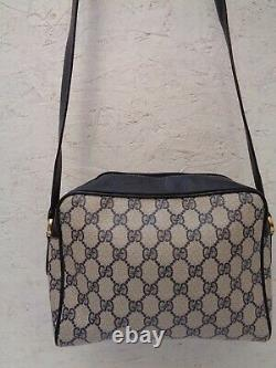 GUCCI sac à main toile et cuir vintage bag /