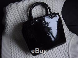 GUCCI sac à main vintage cuir noir verni très bon état