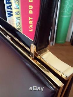 Glamour Sac Vintage En Box Chocolat, Etat Neuf, Esprit Hermes, Celine