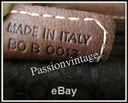 Grand modèle Sac sadlle Christian Dior Cuir tissu made Italie bar borsa vintage