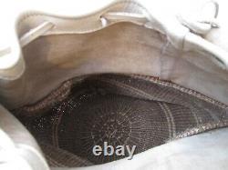 Grand sac à dos en cuir et paille haute qualité vintage bag
