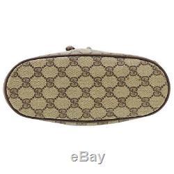 Gucci Gg Grande Sac Bandoulière Marron Cuir PVC Italie Vintage Authentic #FF478