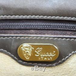 Gucci Sac Bandoulière Glege Cuir Fait en Italie Vintage Authentique #Z465 I