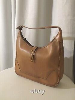 HERMES sac à main Trim 31cm cuir box carf beige claire
