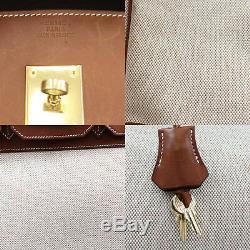 Hermes Birkin 35 Sac à Main Beige Brun Toile H Couchevel Vintage Authentiques