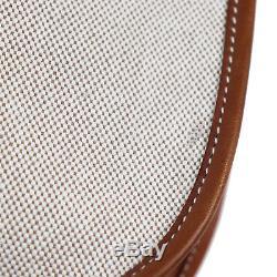 Hermes Evelyne GM Sac Bandoulière Toile H Cuir Marron France Vintage Authentique