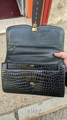 Hermes Paris, Crocodile, chaine d'ancre, sac, bag