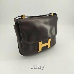 Hermes, Sac Constance Vintage en cuir marron