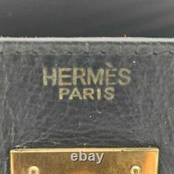 Hermes, Sac Kelly 32cm Vintage en cuir box noir