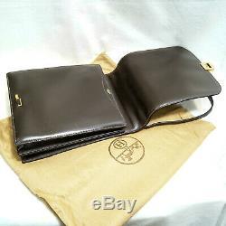Hermès Sac Messager Cuir Chocolat + Pochette Vintage 1975 Messenger Bag