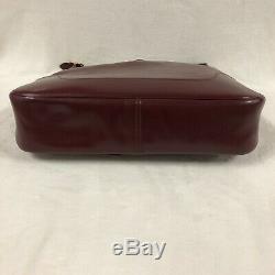 Hermes Sac Trim Gm En Cuir Box Bordeaux Bijouterie Plaque Or Vintage 1980
