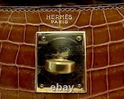 INCROYABLE SAC HERMÈS KELLY 28cm CROCODILE ÉTAT IMPECCABLE