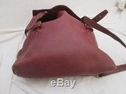Joli sac à dos en cuir avec pochette amovible vintage bag
