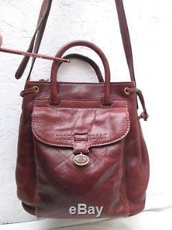 Joli sac à main The Bridge style seau en cuir vintage bag /