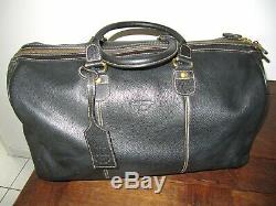 LANCEL GRAND SAC DE VOYAGE vintage en cuir noir TBE
