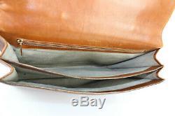 LANCEL Vintage Cartable Serviette Cuir Fauve Bon Etat