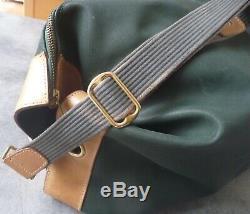 LANCEL maroquinerie Sac Polochon marin bandoulière Baluchon Toile Cuir Vintage