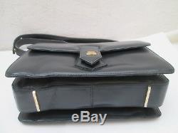 LANVIN vintage sac à main en cuir authentique bag