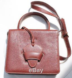 LOEWE SAC VINTAGE BARCELONA 2WAY CUIR MARRON hand / shoulder bag AUTHENTIQUE