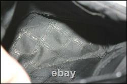 LONGCHAMP Sac à Dos Vintage ROSEAU Doré Cuir Noir TBE