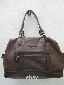 -LONGCHAMP sac à main cuir autruche TBEG vintage bag